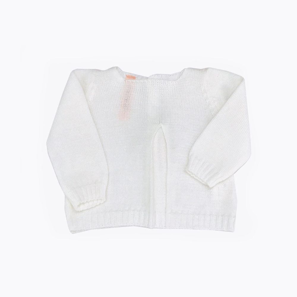 jersey pliegue blanco