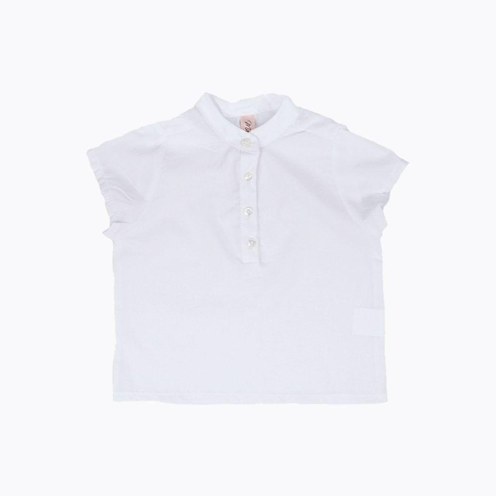 camisa bebé cuello mao